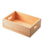 トレータイプ木箱 W270 白木