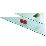 アクリル2段三角形スタンド