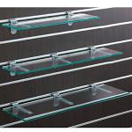 スロットウォール用ガラス棚セットW600 D250