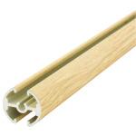 タペストリーバー (φ20) F20-120 サイズ&カラー:1215mm &白木調 (43569WD1)
