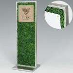 造花サインスタンド 全面グリーン(片面仕様) 面板サイズ:W297×H297 (56680-3*)