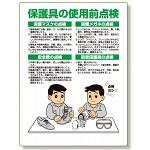 保護具関係標識 保護具の使用前点検 (308-15)