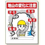ずい道用関係標識 地山の変化に注意 (324-10)