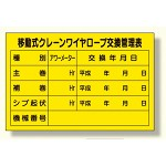 移動式クレーンワイヤロープ交換管理表 (327-40)