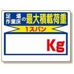 積載荷重標識 足場作業床の..○○? (329-03)