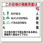 積載荷重標識 この足場の積載荷重は (329-05)
