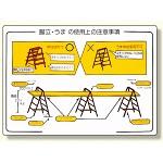 標識 脚立・うまの使用上の注意事項 (332-05)