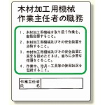 作業主任者職務板 木材加工用機械 (356-08)