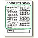 作業主任者職務板 ガス溶接・アセチレン (356-15)