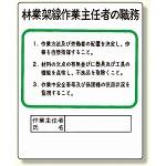 作業主任者職務板 林業架線.. (356-18)