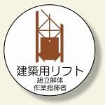 作業管理関係ステッカー 建築用リフト (370-60)