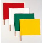 手旗 赤 (350×450) 棒付 (372-20)