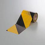 塩ビ・トラテープ (セパ無) 斜線タイプ 90mm幅×10m巻 (374-04)