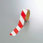 反射トラテープ (セパ付) 白/赤 45mm幅×10m巻 (374-11)