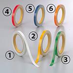 反射テープ (セパ付) 10mm幅×10m巻 (2巻1組) カラー:(4)赤 (374-33)