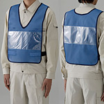 差替楽々・ポケット付差し込み式ベスト 本体のみ 青 (379-66)