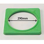 カラーコーン用ウエイト (700mmH用) 緑・ポリエチレン製1.5kg (385-43)