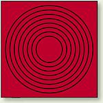 ゲージマーカー 目安マーキング 赤 110×110 10枚1組 (446-85)