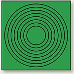 ゲージマーカー 目安マーキング 緑 110×110 10枚1組 (446-86)