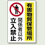 有害物質保管場所 鉄板 (普通山) 450×300 (814-65A)