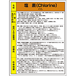 塩素 特定化学物質標識 600×450 (815-11A)