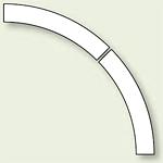 ドア開閉表示ステッカー 白 (819-60)