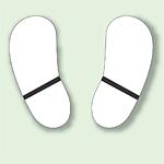 路面貼用ステッカー 白色 足跡マーク アルミステッカー 天地190×0.3mm厚 (819-91)