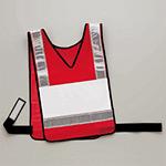 反射ベスト ポケット付 メッシュシート 色:赤/反射部白 (831-72)
