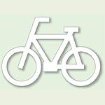 道路表示シート 自転車マーク 合成ゴム 700×1000 (835-011)