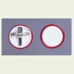 ネームバッジ 赤 用紙:Φ38mm 10個1組 (850-60)