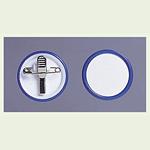 ネームバッジ 青 用紙:Φ38mm 10個1組 (850-62)