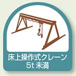 作業管理関係ステッカー 床上操作式クレーン5t未満 2枚1組 (851-68)