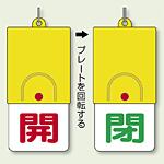回転式両面表示板 開 (赤字) ・閉 (緑字) (857-32)