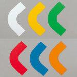 屋内床貼用コーナーテープ (50mm幅用) 10枚1組 カラー:白 (862-60)