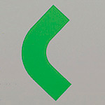 屋内床貼用コーナーテープ (50mm幅用) 10枚1組 カラー:緑 (862-62)