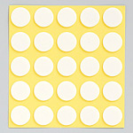 丸型発泡両面テープ (セパ付) 15mmΦ 100個入 (1枚25個付×4) (863-361)