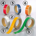 反射テープ (セパ付) 30mm幅×10m巻 カラー:(1)白 (863-52)
