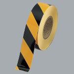 屋内床貼用トラテープ 黄/黒 50mm幅 長さ:50m巻 (863-642)