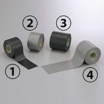 防食テープ (セパ無) 10m巻 色/幅:(4)シルバーグレー 75mm幅 (864-43)