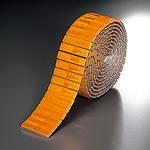 反射レフテープ (セパ付) アンバー 50mm幅×2.5m巻 (866-02)