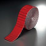反射レフテープ (セパ付) レッド 50mm幅×2.5m巻 (866-03)