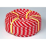 紅白ロープ (標識用) ポリエチレン 12mmφ×100m巻 (871-63)