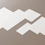 エコユニボード (再生PPボード) 白無地 100×150×2.0/4mmΦ上部穴2 (10枚1組) (886-31)