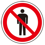 上部標識 立入禁止マーク (サインタワー同時購入用) (887-719)
