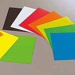 ゴムマグネット 赤 500×500×0.8 (1枚) (892-13)