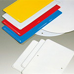 鉄板 450角×1.0 バンドタイプ (1枚) (893-53)