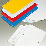 鉄板 普通山 白 300×450×0.5 穴4スミ (1枚) (893-30)