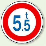道路標識 (構内用) 重量制限 アルミ 600φ (894-15)