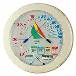熱中症注意目安付温湿度計直径230mm (HO-401)