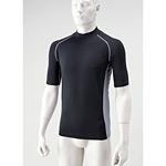冷感パワーストレッチシャツ半袖 黒 M (HO-97BK-1)
